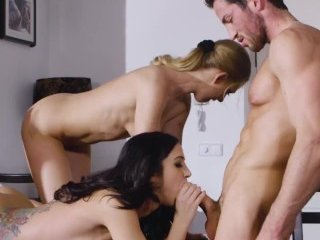 Lucy Heart gets hot for threesome with married Julia de Lucia
